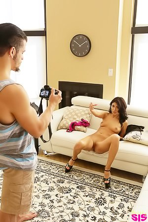 Pink panties Latina shows off her naughtier side during a shoot