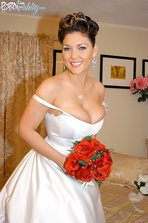 Tanned bride with massive tits gets brutally pounded on her wedding night
