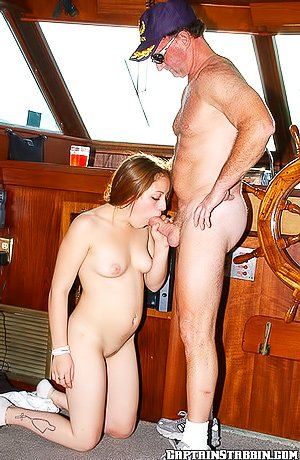 Tight pussy blond-haired cutie gets double teamed on the boat