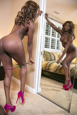 Ebony beauty gets richly oiled up and fucked by her hung masseur